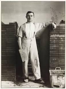 Master Mason 1926 by August Sander 1876-1964