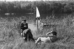 Haute-Normandie. Seine-Maritime. Rouen. El río sena. 1955.