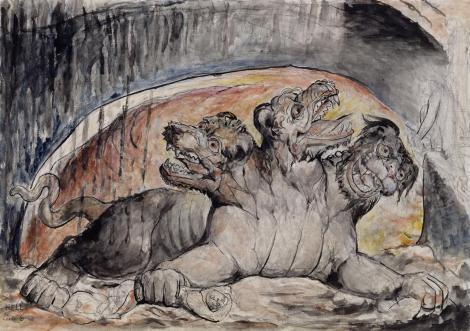 Cerberus 1824-7 William Blake 1757-1827 Purchased with the assistance of a special grant from the National Gallery and donations from the Art Fund, Lord Duveen and others, and presented through the the Art Fund 1919 http://www.tate.org.uk/art/work/N03354