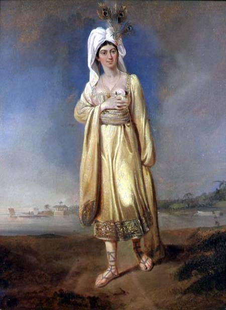 BAG63289 Princess Caraboo of Javasu (Mary Baker), 1817 (oil on panel) by Bird, Edward (1722-1819) © Bristol City Museum and Art Gallery, UK English, out of copyright