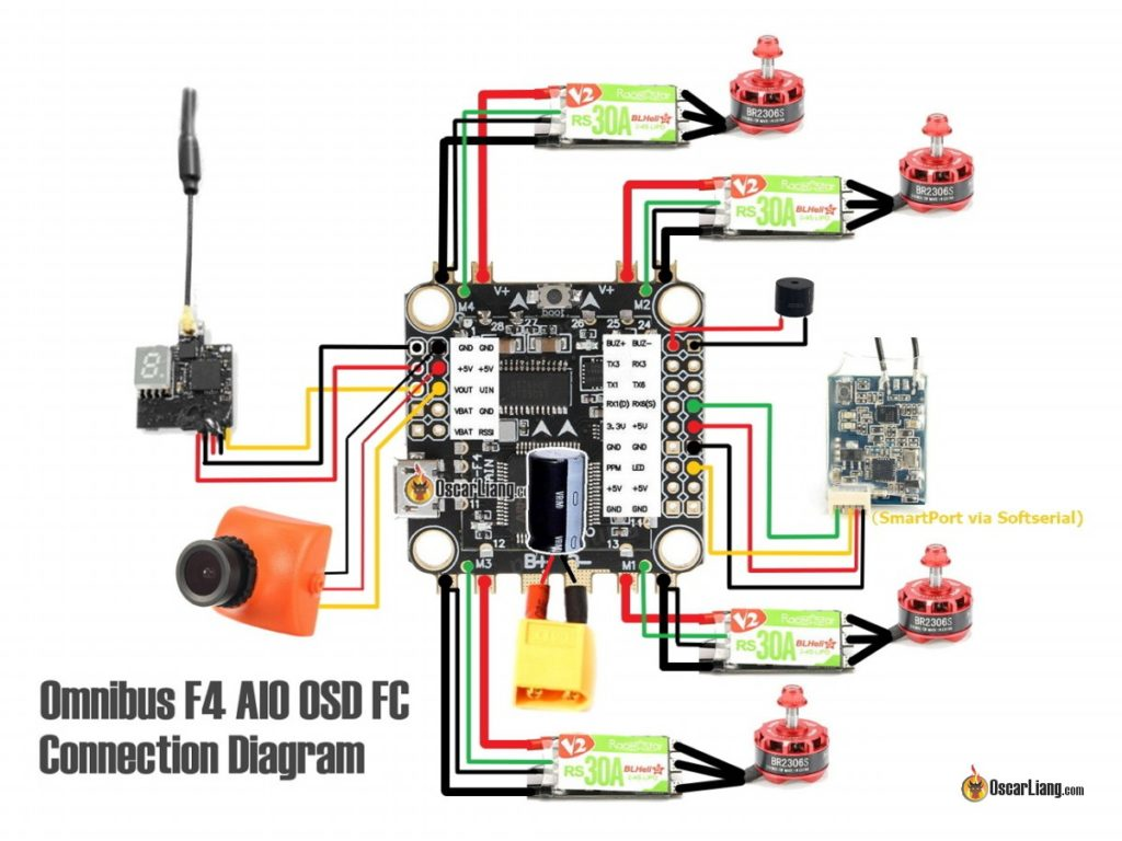 Quad Esc Wiring Diagram Not Lossing Naze32 Flight Controller Tricopter Soldering Arducopter Control Line Airplane