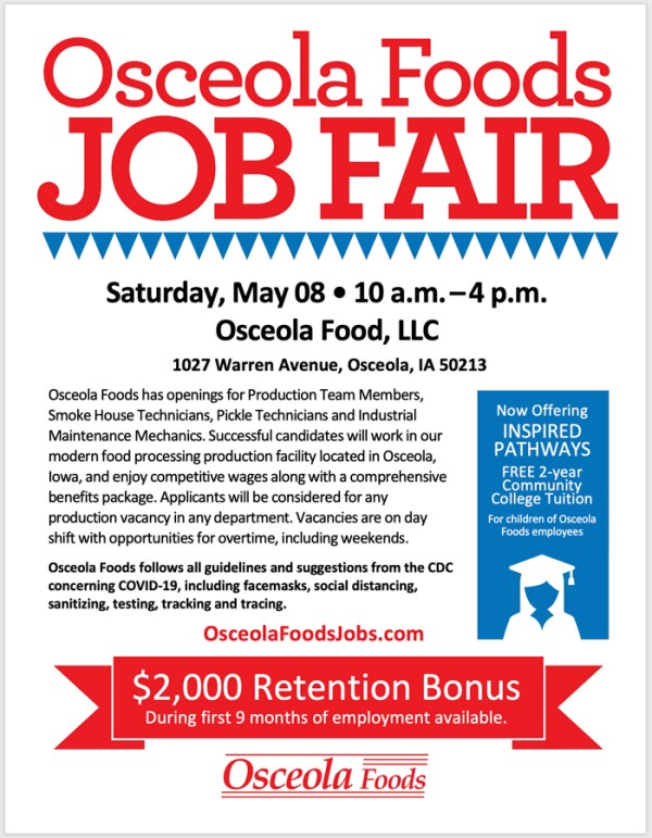 osceola foods job fair