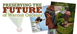 preserving warrior osceola statue in clarke county iowa