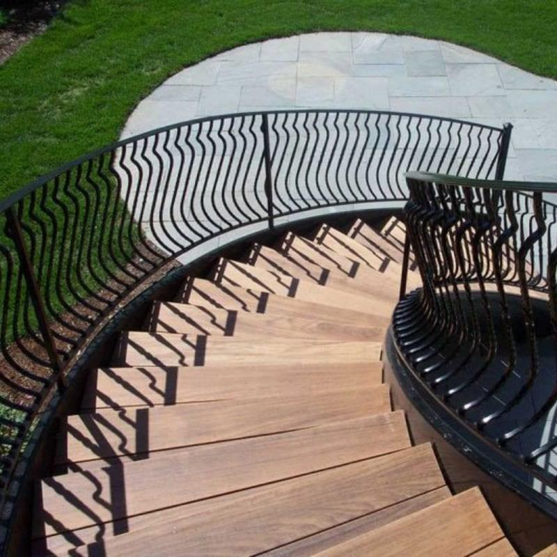 Wrought Iron Balcony Railing Fence Installation Osceola Fence   Custom Handrails Near Me   Staircase   Ornamental Iron   Balusters   Glass   Deck Railing