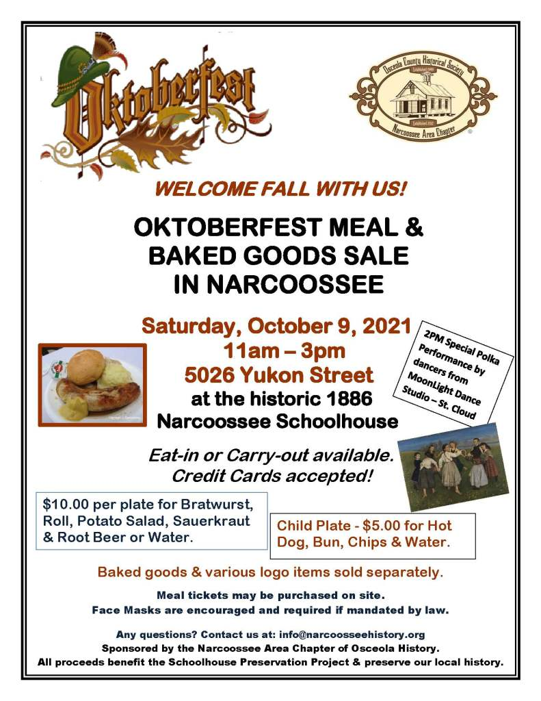 Narcoossee Chapter Oktoberfest Flyer 2021