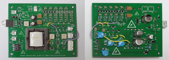 2013 model Oscilloclock Power Board - with a few hacks for the 5ADP2