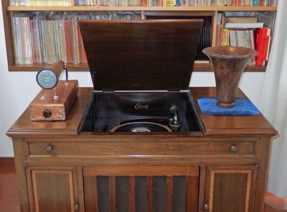 ... perhaps it looks best on a 1920's Edison Diamond Disc Phonograph!