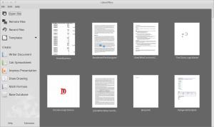 LibreOffice StartCenter
