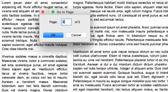 Go To Page in LibreOffice Writer