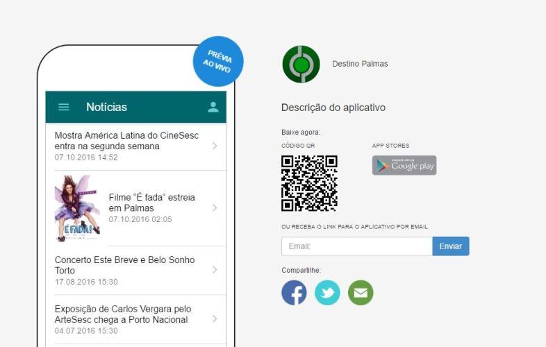 Destino Palmas lança app para turistas e moradores