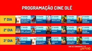 Programação Cine Olé