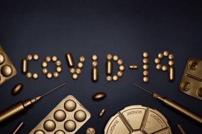 Imagem mostrando o poder de ouro, o custo da Covid-19, possível lucro para alguem