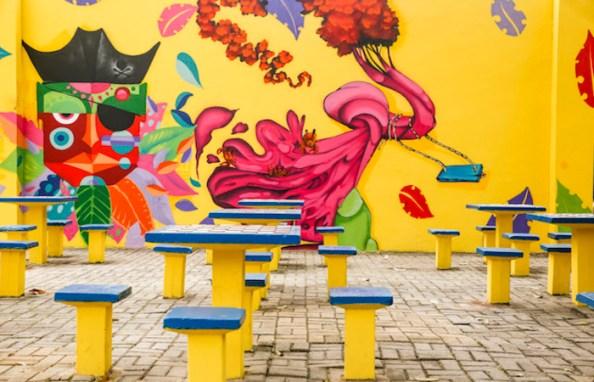 Programa Colorindo o Recife reabre as inscrições para cadastro de novos artistas urbanos