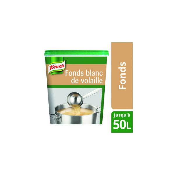 KNORR - Fonds Blanc de Volaille Déshydraté 750G jusqu'à 50L