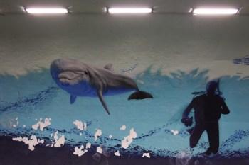 Mural alusivo à orla marítima de Setúbal