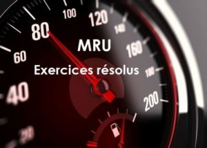 MRU-Exerices solutions
