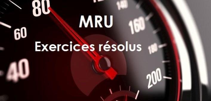 Le MRU – exercices corrigés