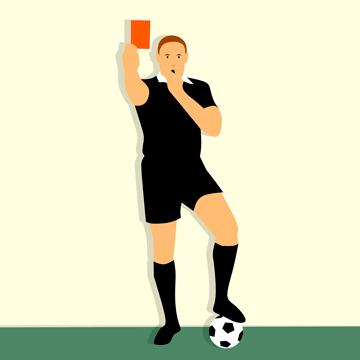 Un arbitre donne un carton rouge pour mauvaise posture