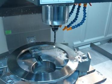The WDO-SUS carbide drill from OSG in use. In addition to 1.4462 stainless, other stainless steels are also processed.