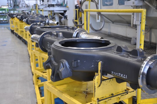 Scania's Sao Paulo plant has been producing differential housings for the past 10 years with an estimated 2,736 units per year.