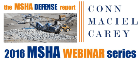MSHA Webinar Series