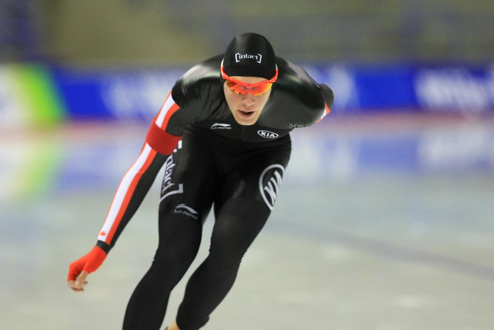 Oshawa native Ben Donnelly was honoured by Speed Skating Canada with the Rising Star Athlete of the Year Award.
