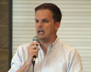 Ajax MP Mark Holland hosted a town hall on possible changes to the federal electoral system.