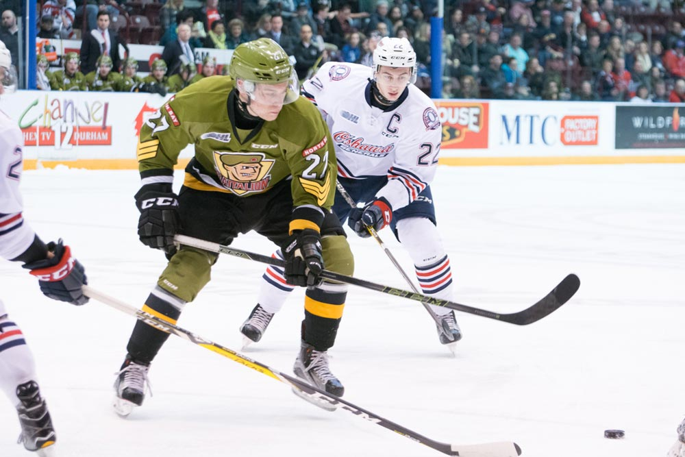 After defeating the North Bay Battalion on Dec. 9, 5-2, the Gens suffered two straight losses, first a 4-1 loss to the Ottawa 67s, followed by a 6-3 defeat to the Saginaw Spirit on Dec. 11 at the Tribute Communities Centre.