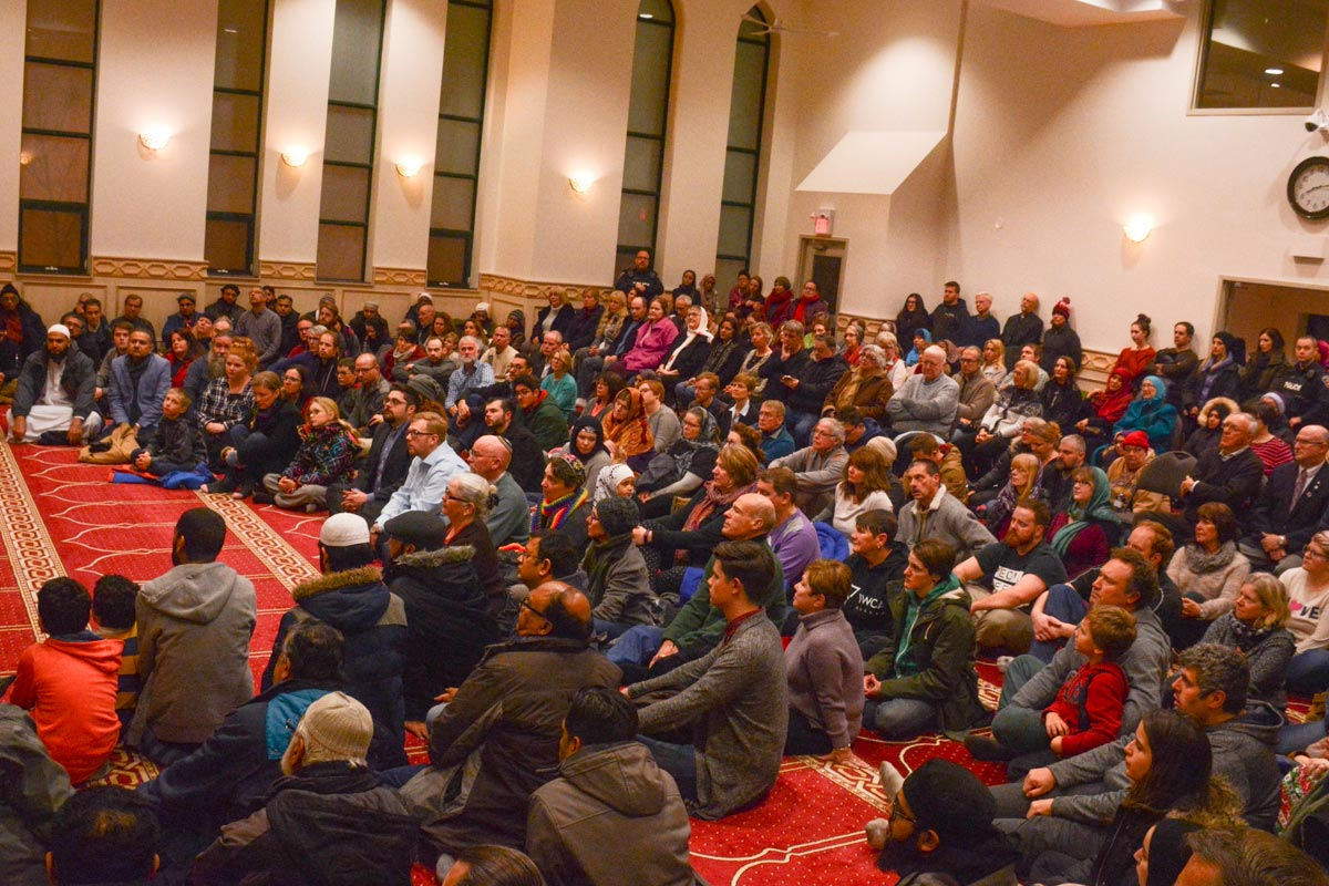 More than 200 people came out for a vigil at the Islamic Centre of Oshawa for the victims of the Quebec City mosque shotting. Shakir Pandor, the centre's imam, says people need to work together to stop islamophobia.