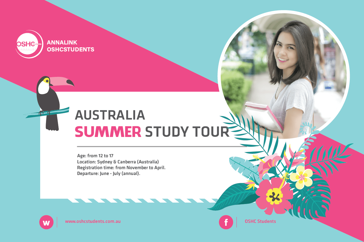Annalink OSHCstudents summer study tour 2019