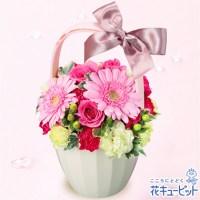 ピンクガーベラとバラのアレンジメント【4,000円+税】