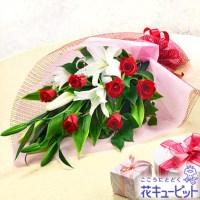 ユリとバラの花束【5,000円+税】521059
