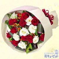 赤バラとトルコキキョウのブーケ【10,000円+税】