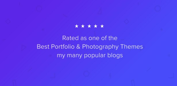 Best Rated Portfolio & Photography Theme