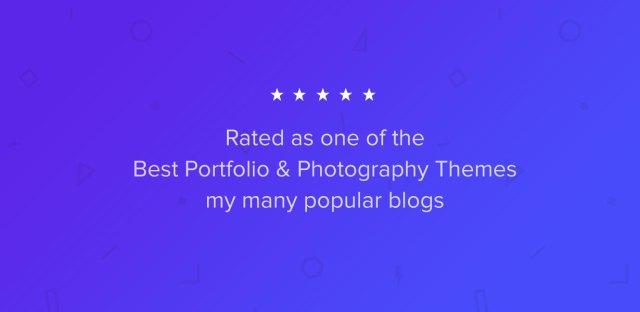 Best Rated Portfolio & Photography Theme