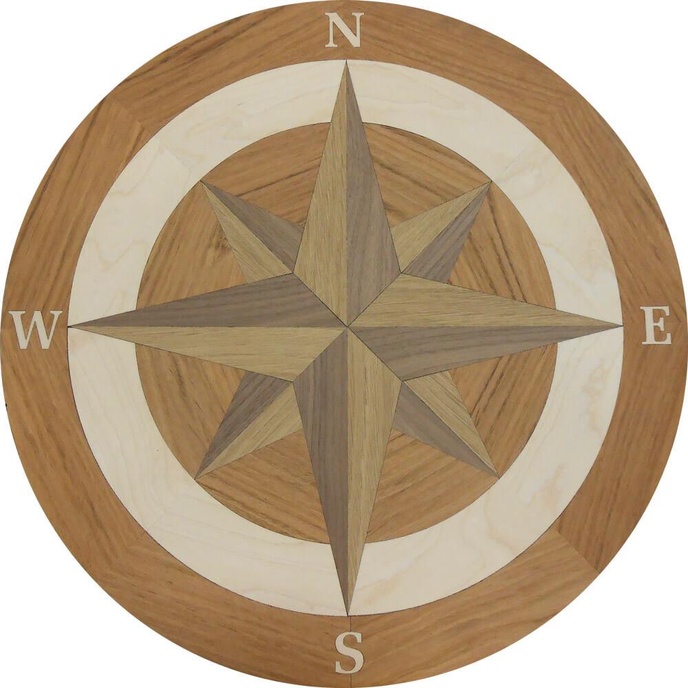 custom compass rose wood medallion 2