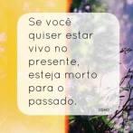 """""""Se você quiser estar vivo no presente, esteja morto para o passado""""."""