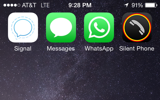 Signal, iMessage, WhatsApp, Silent Phone