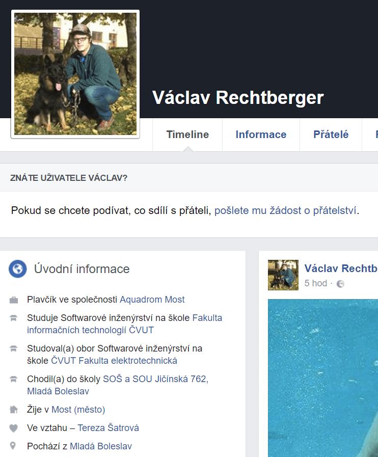 student Václav Rechtberger