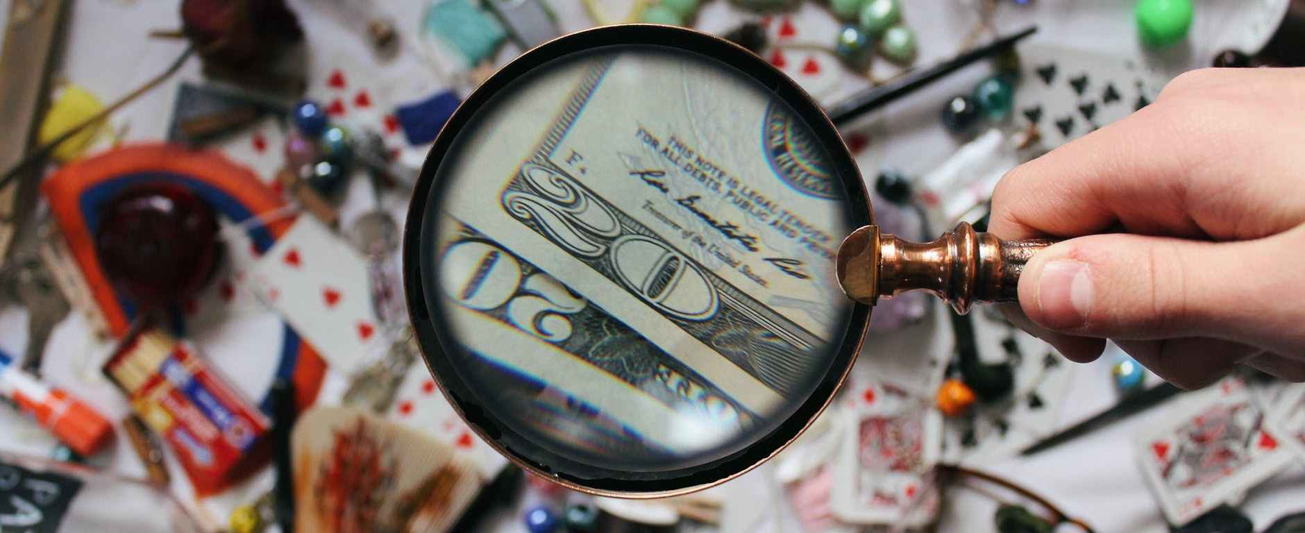 close up photography of magnifying glass