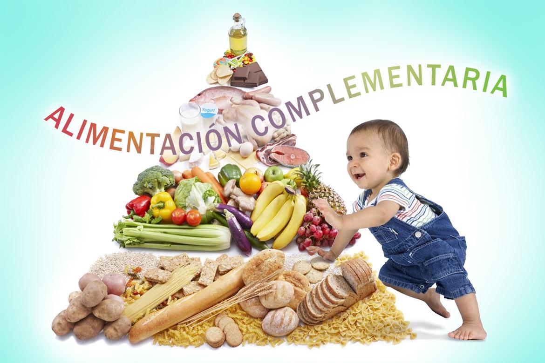 la pirámide de alimentación infantil