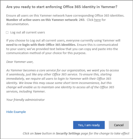 Yammer identity integration with office 365 now released mister cloud tech - Yammer office 365 integration ...