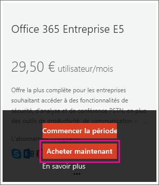 Passer Dun Abonnement Office 365 Entreprise E4 Un