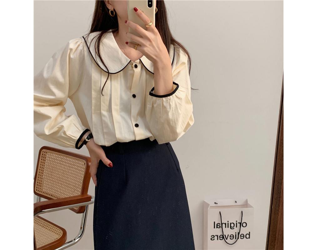 osiswing 라운드카라 핀턱셔츠 셔츠추천  셔츠