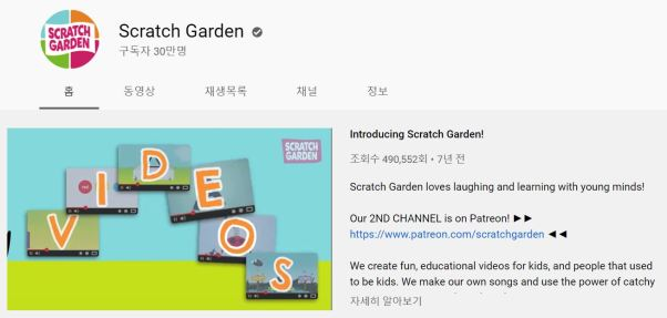 아이들을 위한 영어 교육 유튜브 채널