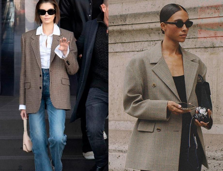 옷 잘입는 여자 청바지에 체크자켓을 코디하면 스타일리쉬하다