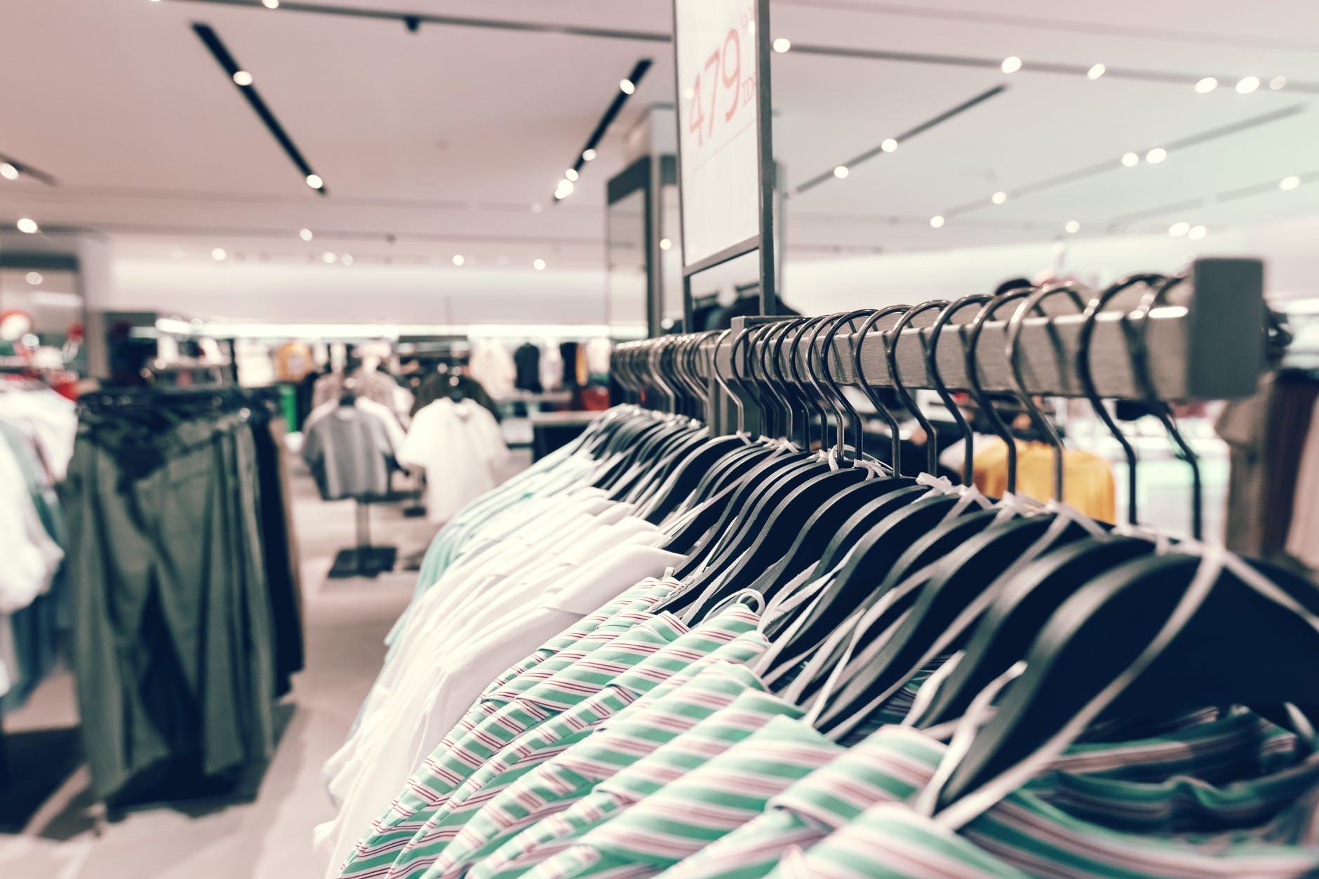 백화점에서 옷을 구매할 때 장점