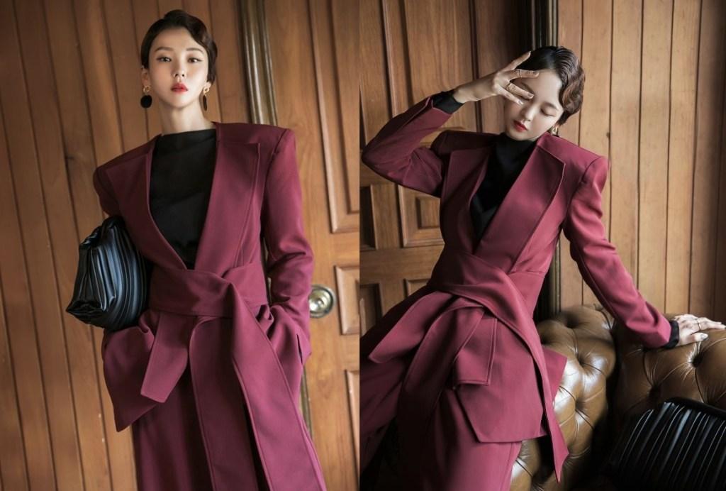 딘트 J9070 로히즈 라펠 포인트 패드 재킷