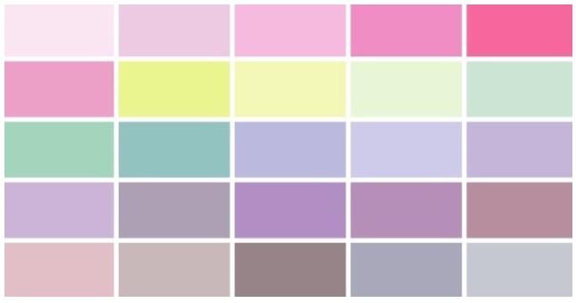 여름쿨톤 색상표