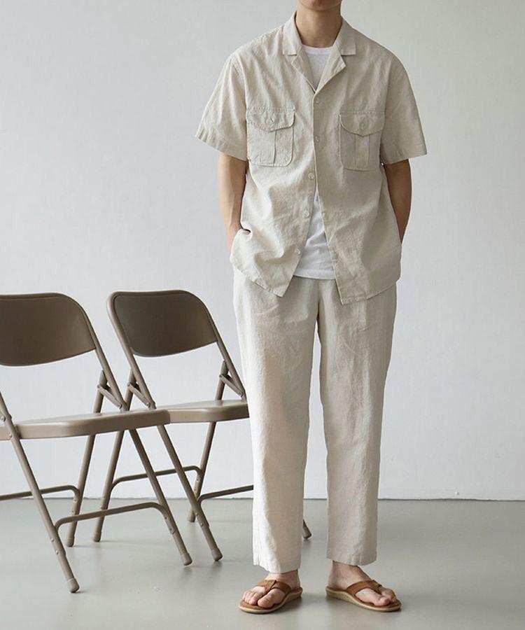 반팔 셔츠 톤온톤으로 자연스러운 코디하는 법